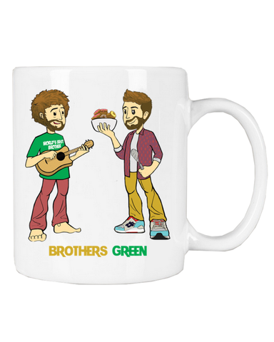 Brothers Green Cartoon Cofee Mug