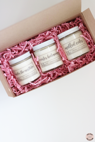 Holiday Candle Trio Set