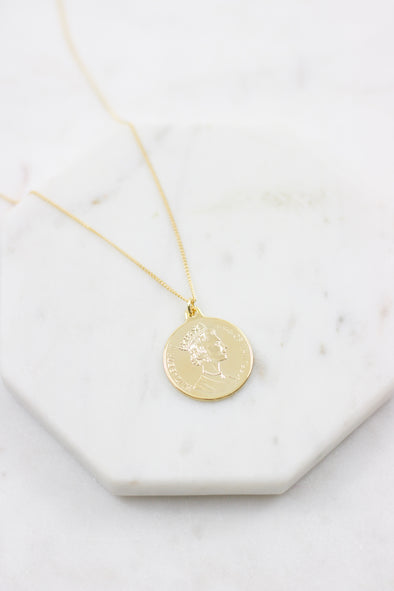 Elizabeth Coin Necklace