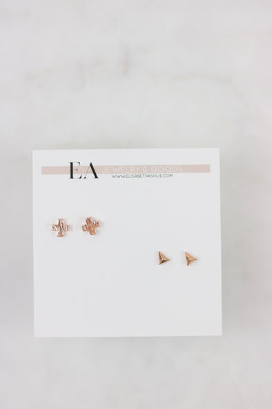 Simple Shapes Stud Set