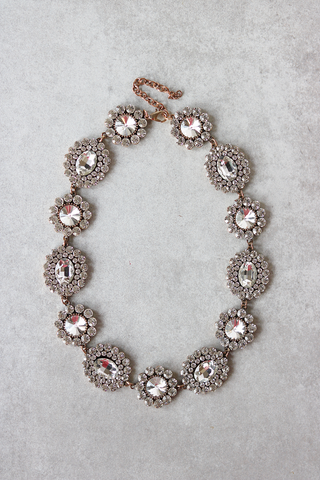 Crystal Burst Statement Necklace