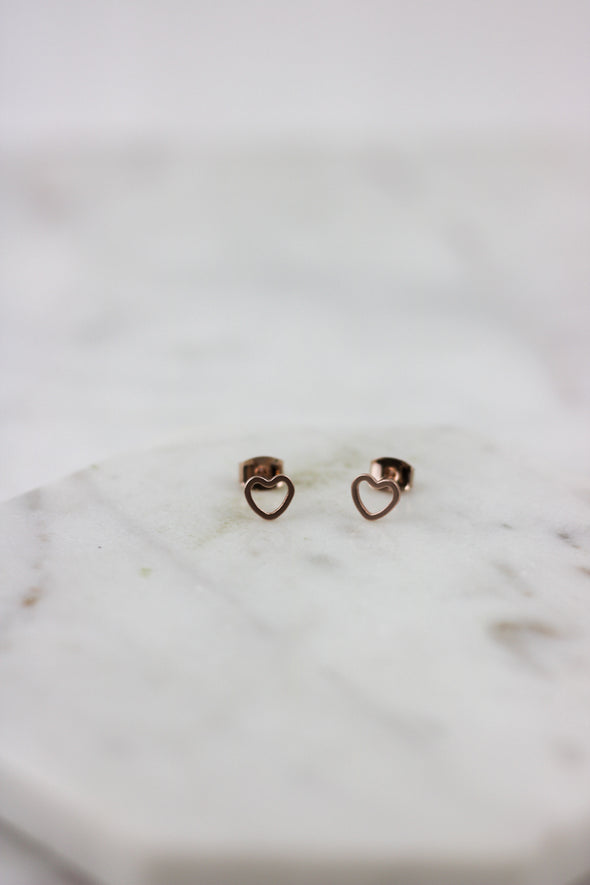 Shape of my Heart Studs