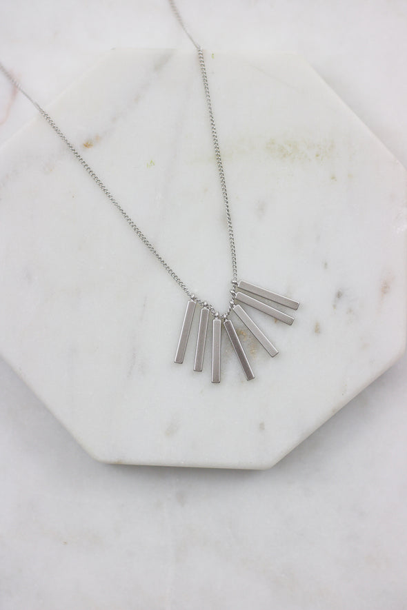 Bar Fringe Necklace