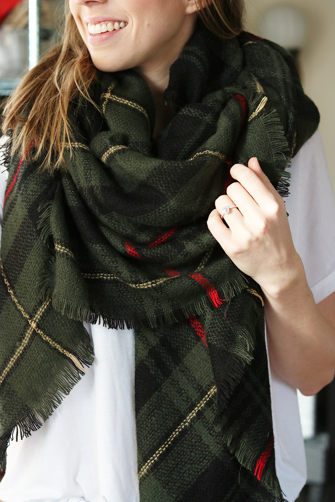 Green with Envy Blanket Scarf