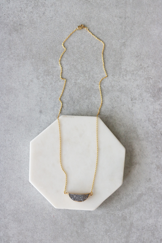 Curved Druzy Necklace