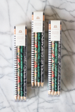 Striped + Floral Pencil Set