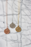 Double Disc Stamped Family Necklace