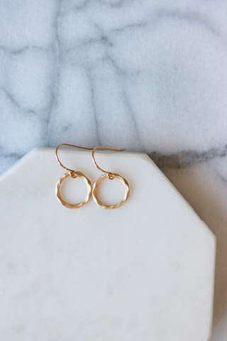 Hammered Ring Earrings