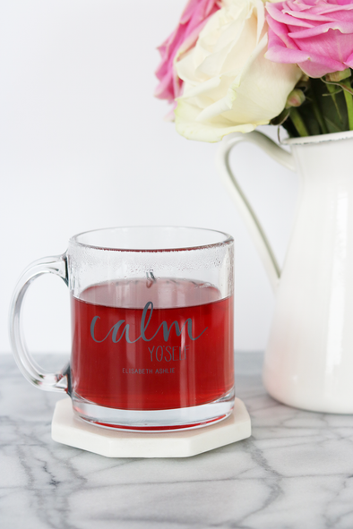Calm Yo'Self Glass Mug