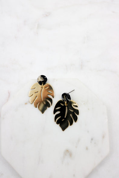 Acetate Leaf Earrings