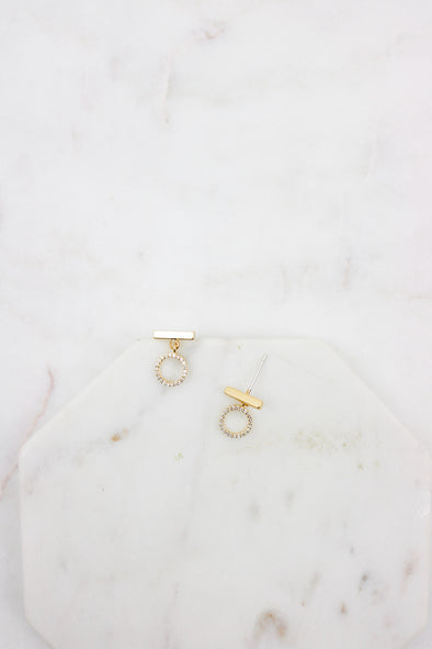 Luxe Ring Drop Studs