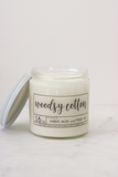 Woodsy Cotton Soy Candle
