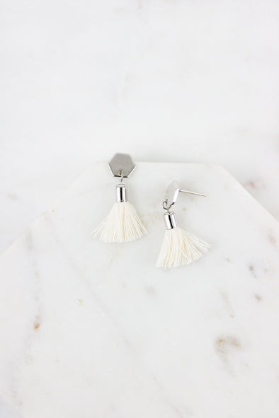 Hex Tassel Earrings