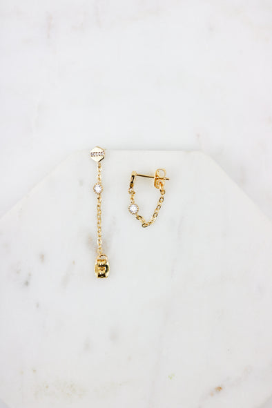 Shimmer Chain Earrings