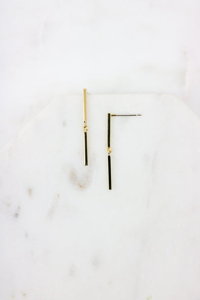 Split Bar Earrings