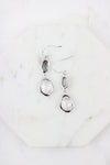 Gray Drop Earrings