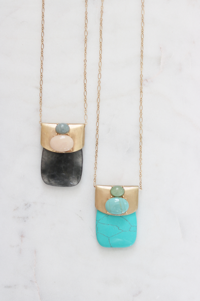 Trio Stone Necklace