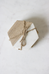 Marble and Wood Hexagon Coasters