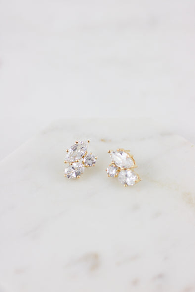 Crystal Cluster Studs