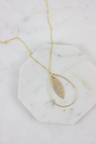 Shimmer Drop Necklace
