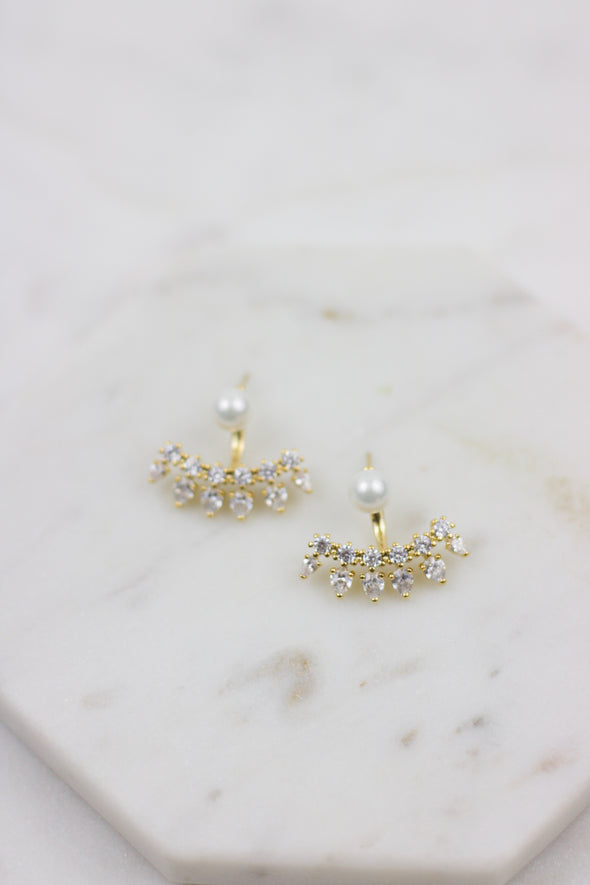 Crystal Crown Ear Jackets