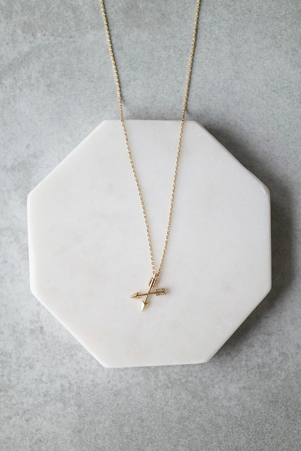 Crossed Arrows Necklace