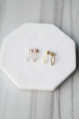 Marquise Outline Studs