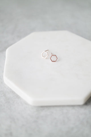 Mini Simplified Hex Studs