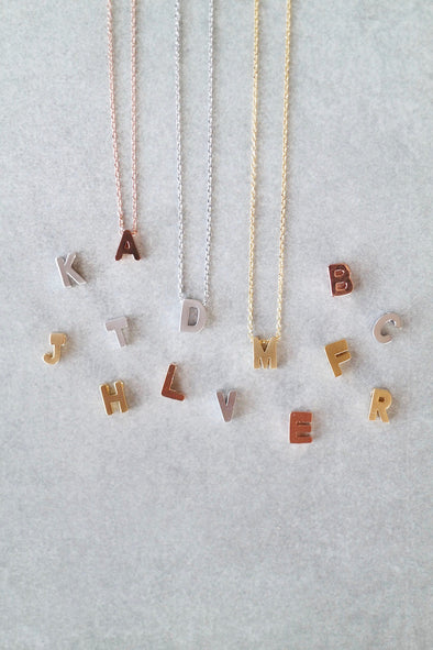 Uppercase Initial Necklace