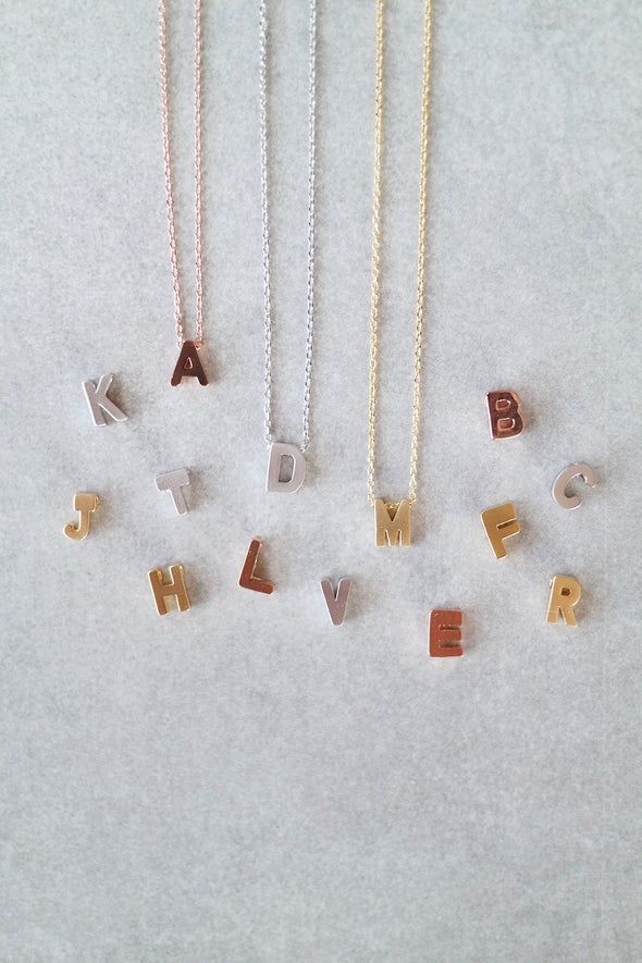 Uppercase Letter Necklace