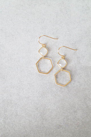 Hex Drop Earrings