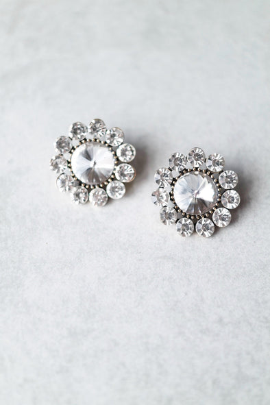 Crystal Bloom Statement Earrings