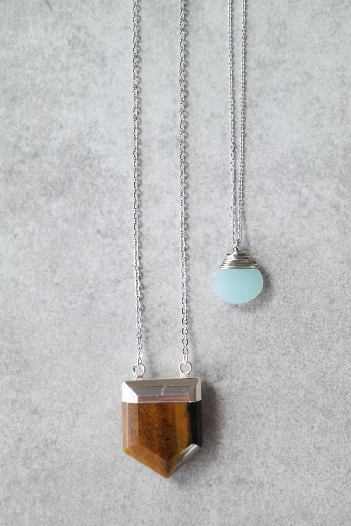Pastel Stone Layering Necklaces