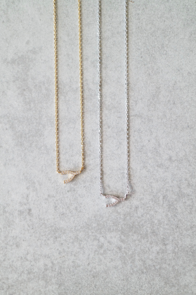 Luxe Wishbone Necklace