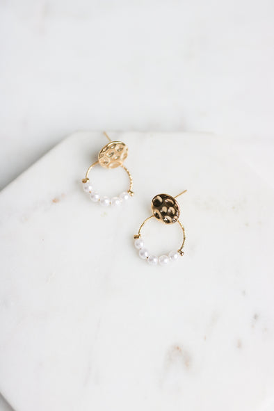 Mini Pearl Drop Earrings