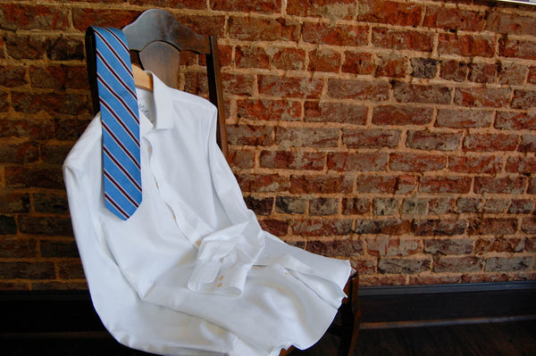 A current tie style can be a simple striped necktie