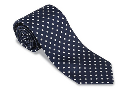 R. Hanauer Navy/ White Windsor Dots Necktie