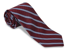 R. Hanauer Burgundy/ Navy Brooks Striped Necktie