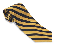 R. Hanauer Black/ Gold Bar Stripes Necktie