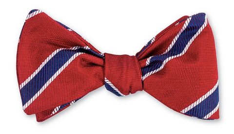 Red Hawkins Stripes Bow Tie