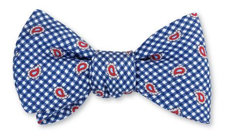 Blue Pine Bow Tie
