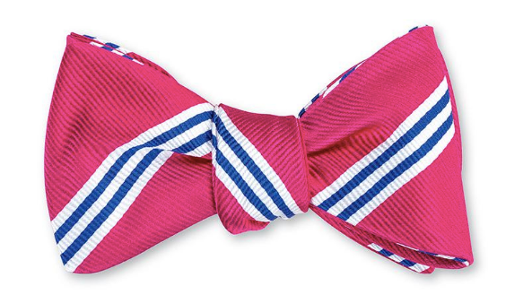 Pink Powell Stripes Bow Tie