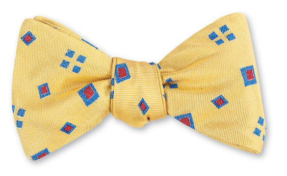 Yellow Laurel Diamonds Bow Tie