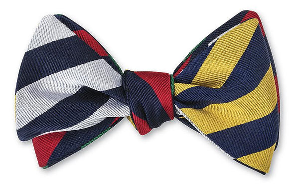bar stripe bow tie
