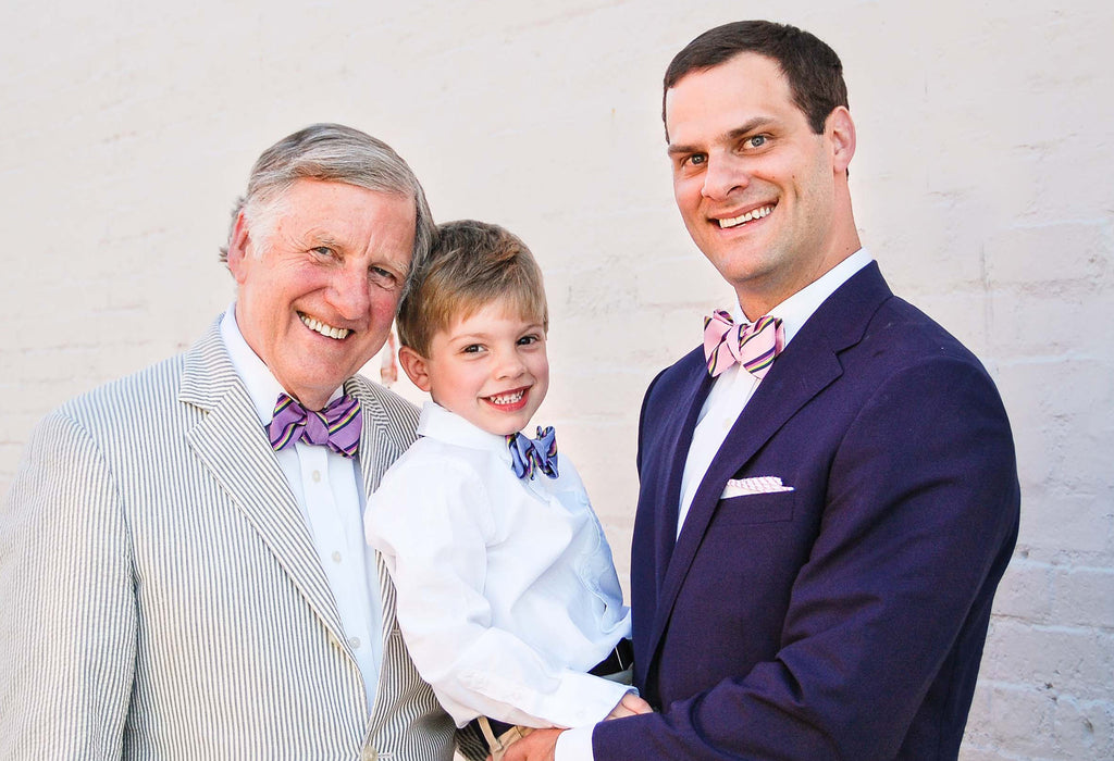 Bow ties for boys and fathers