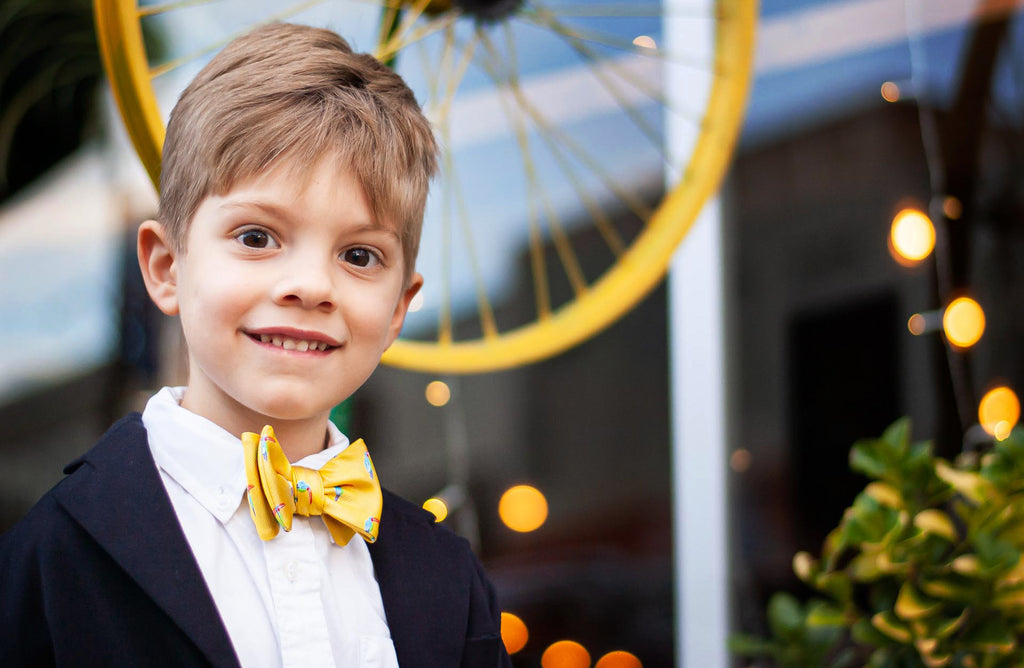 Yellow Toucans Bow Tie for Boys