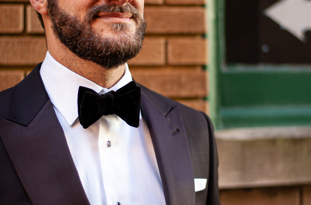 New Years Eve Black Velvet Bow Tie