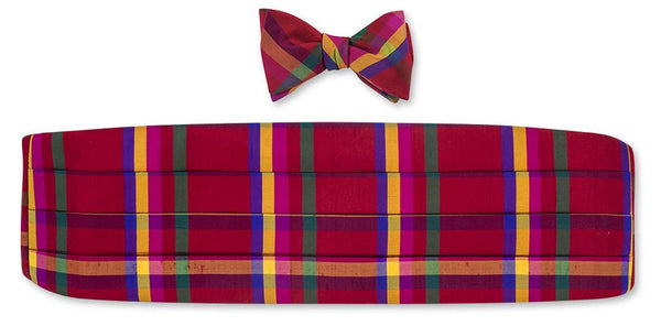 Red Plaid Cummerbund set