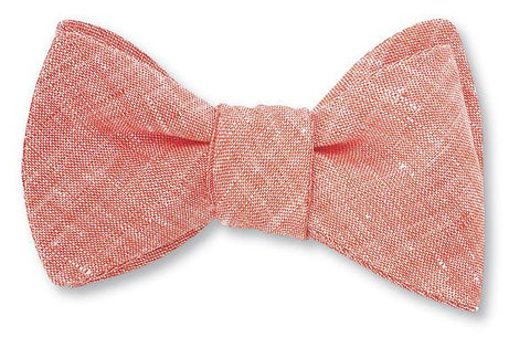 linen bow ties are ideal for spring weddings