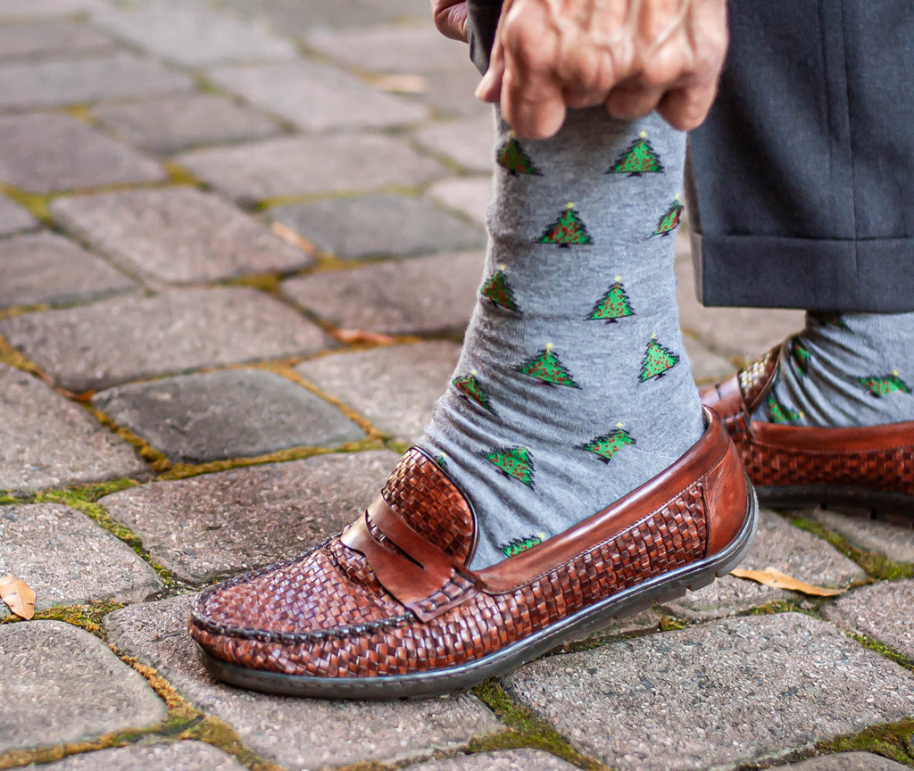 Pair your sweater vest with a fun sock as an accessory